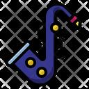 Saxophone Jazz Music Icon