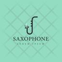 Saxophone Logo Icon