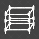 Scaffolding Folding Structure Icon