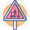 Scaffolding Incomplete Scaffolding Sign Board Icon