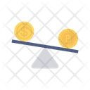 Scale Balance Bitcoin Icon