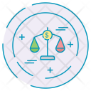 Jusitce Finance Scale Icon