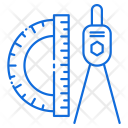 Scale Geometry Compass Icon