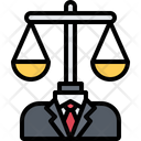Scales Man Suit Icon