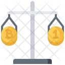 Scales Comparison Bitcoin Icon