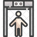 Scan Body Scanner Security Icon