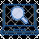 Data Analytics Scan Magnifier Icon