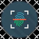Scan Identity Thumbprint Icon