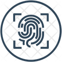 Biometric Fingerprint Scan Icon