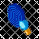 Crime Dactylogram Fingerprint Icon