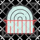 Fingerprint Scan Security Icon