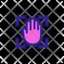 Biometric Verification Scan Icon