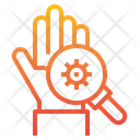 Hand Coronavirus Search Icon
