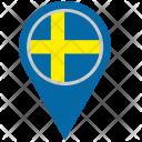 Scandinavia Sweden Location Icon