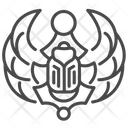 Scarab Amulet Beetle Egypt Icon