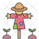 Scarecrow Halloween Straw Icon