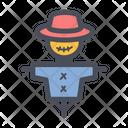 Scarecrow Spooky Skull Icon