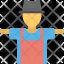 Scarecrow Straw Man Icon