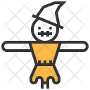 Scarecrow Evil Ghost Icon