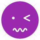 Scared Wink Mood Icon