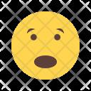Scared Emoji Face Icon