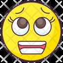Scared Emoticon Icon