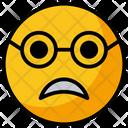 Scared Face Emoji Icon