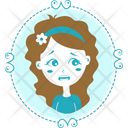 Scared Girl Icon