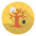 Scary Tree Spider Icon