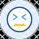 Scary Emoji Expression Icon