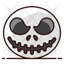 Scary Face Halloween Character Angry Face Icon