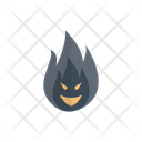 Scary Fire Halloween Icon