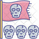 Scary Flag Danger Symbol Halloween Party Icon