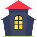 Scary Home Horror House Castle Icon
