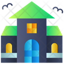 Scary Home Horror House Haunted House Icon
