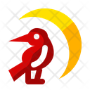 Crow Night Moon Icon
