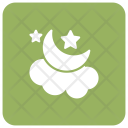 Night Moon Cloud Icon