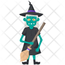 Scary Old Witch Icon