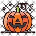Scary Pumpkin Halloween Pumpkin Pumpkin Icon