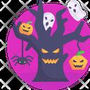 Halloween Tree Scary Icon