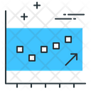 Scatter Trend Forecast Icon