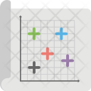 Scatter Plot Diagram Icon
