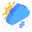 Partly Cloudy Partly Snow Partly Blizzard Icon