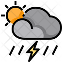 Scattered Storms Thunder Storms Storms Icon