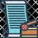 Scenario Screenplay Storyline Icon