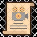 Scenario Movie Script Film Script Icon