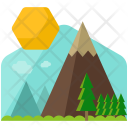 Countryside Scenery Mountain Icon