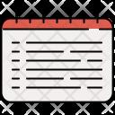 Schedule List Spiral Icon