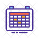 Schedule Month Calendar Icon