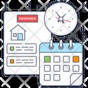 Schedule Timetable Calendar Icon